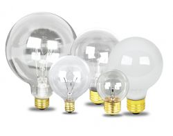 Decorative Globe  Vanity Light Bulbs